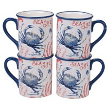 Certified International Nautical 4pc Mug Set