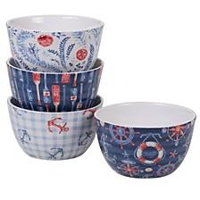Nautical 4pc Ice Cream Bowl