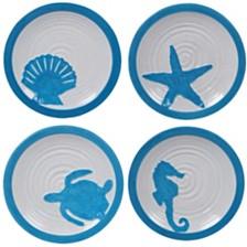Certified International Natural Dessert Plates, Set of 4