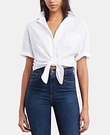 Levi's® Tie-Hem Cuffed-Sleeve Shirt