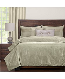 Sparkly Herb 6 Piece Cal King High End Duvet Set