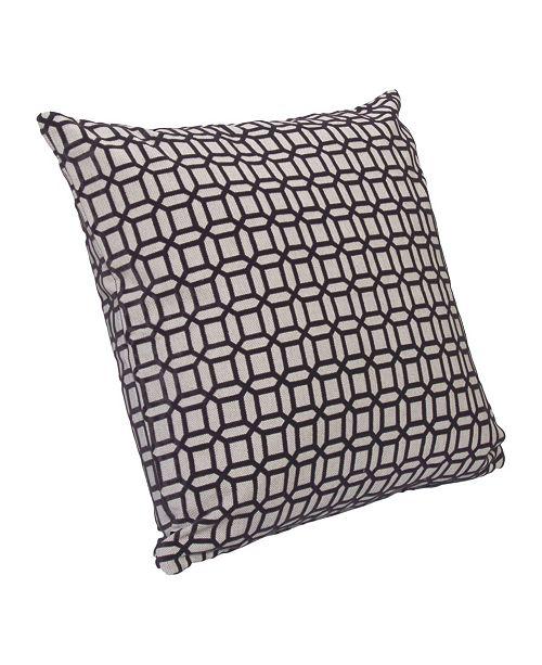 "Siscovers Bottega Graphite Geometric 16"" Designer Throw Pillow"