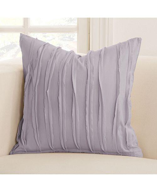 """Siscovers Tattered Lavender 20"""" Designer Throw Pillow"""