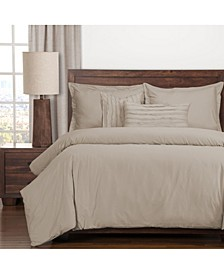 Classic Cotton Almond 5 Piece Twin Luxury Duvet Set