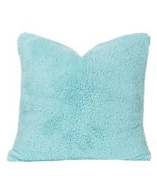"Crayola Playful Plush Robin's Egg Blue 16"" Designer Throw Pillow"