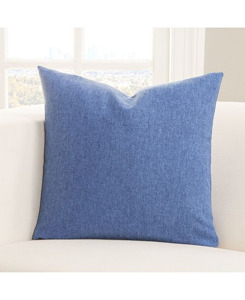 "Siscovers Wooly Cobolt 26"" Designer Euro Throw Pillow"