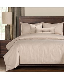 Camelhair Tan 6 Piece Cal King High End Duvet Set