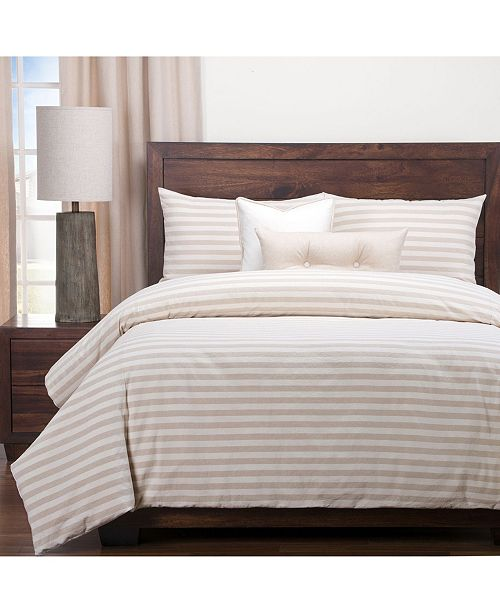 Siscovers Farmhouse Barley Striped 5 Piece Twin Luxury Duvet Set