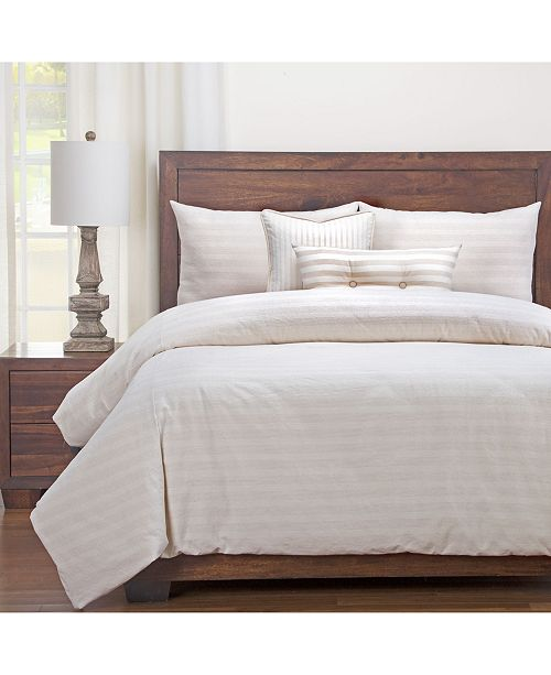 Siscovers Homestead Barley Striped Farmhouse 6 Piece Full Size Luxury Duvet Set