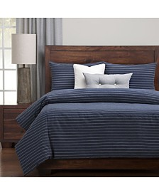 Siscovers Burlap Indigo Farmhouse 6 Piece Cal King High End Duvet Set