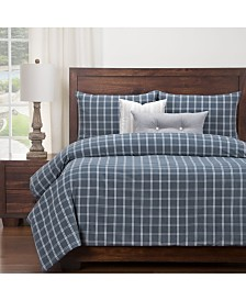 Siscovers Tartan Denim 6 Piece Full Size Luxury Duvet Set