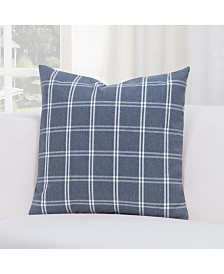 "Siscovers Tartan Denim 20"" Designer Throw Pillow"