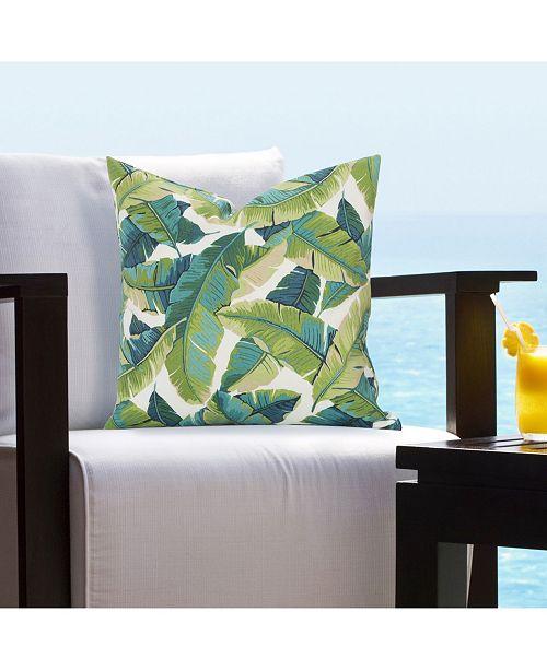 "Siscovers Fiji Tropical 16"" Designer Throw Pillow"