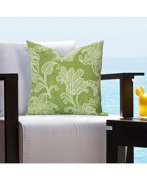 "Siscovers Veranda Citrus Indoor-Outdoor 26"" Designer Euro Throw Pillow"