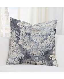 "Siscovers Cindersmoke Linen 20"" Designer Throw Pillow"