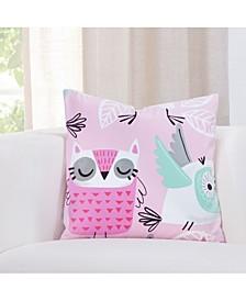 Night Owl Designer Throw Pillow