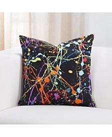 "Neon Splat 20"" Designer Throw Pillow"