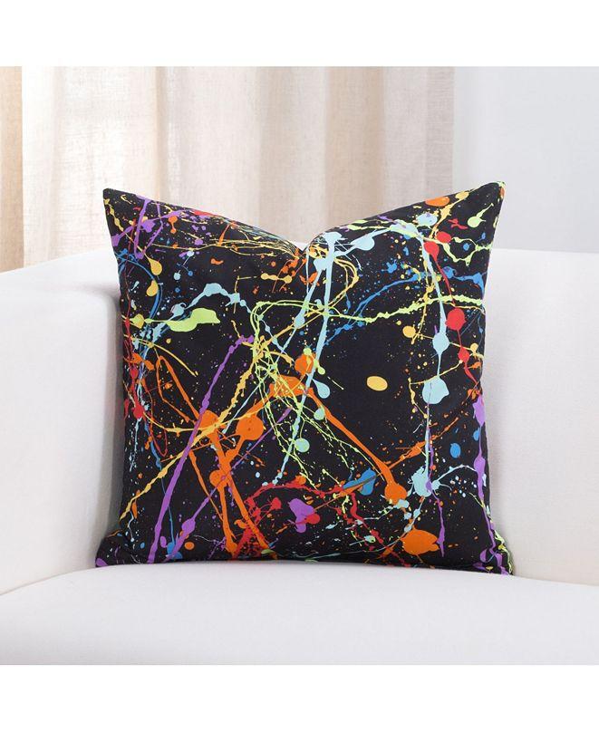 "Crayola Neon Splat 20"" Designer Throw Pillow"