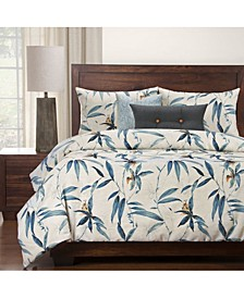 Tropical Night 6 Piece Full Size Luxury Duvet Set