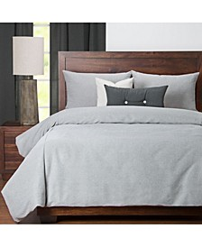 Everlast Stone Stain Resistant 6 Piece Cal King High End Duvet Set