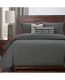 Revolution Plus Everlast Slate Stain Resistant 6 Piece Full Size Luxury Duvet Set