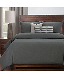 Everlast Slate Stain Resistant 6 Piece Queen Luxury Duvet Set