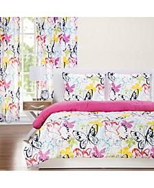 Flutterby 6 Piece Full Size Luxury Duvet Set