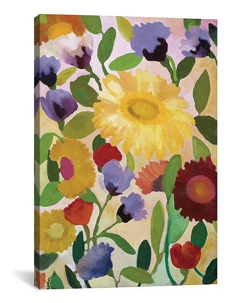 "iCanvas ""Irises"" By Kim Parker Gallery-Wrapped Canvas Print - 60"" x 40"" x 1.5"""