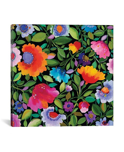 """iCanvas """"India Garden I"""" By Kim Parker Gallery-Wrapped Canvas Print - 37"""" x 37"""" x 0.75"""""""