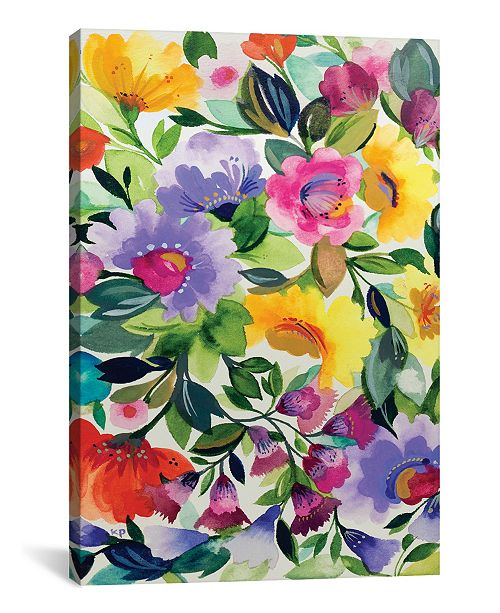 """iCanvas """"Lavender Zinnias"""" By Kim Parker Gallery-Wrapped Canvas Print - 26"""" x 18"""" x 0.75"""""""