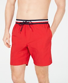 "Tommy Hilfiger Men's 7"" Atlantic Swim Trunks, Created for Macy's"