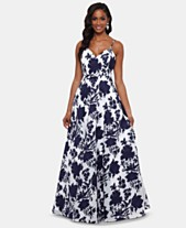 78136296adf Xscape Open-Back Embellished Toile Gown