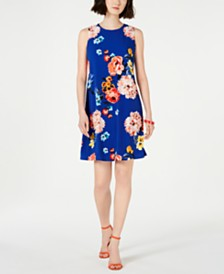 Jessica Howard Petite Floral-Print Trapeze Dress