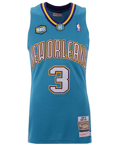promo code e3b17 12a3b Men's Chris Paul New Orleans Hornets Authentic Jersey