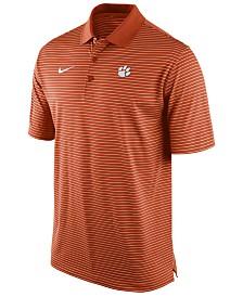 5aa21e0ae109 Nike Men s Clemson Tigers Stadium Stripe Polo