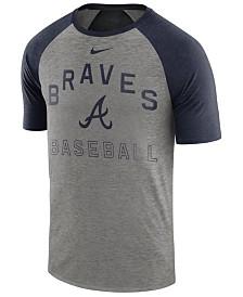 Nike Men's Atlanta Braves Dry Slub Short Sleeve Raglan T-Shirt