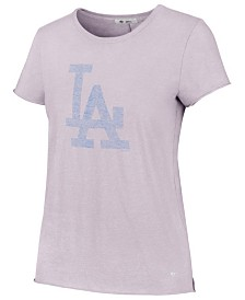 '47 Brand Women's Los Angeles Dodgers Lilac Fader T-Shirt