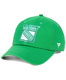 Authentic NHL Headwear New York Rangers St. Patrick's Day Fundamental Strapback Cap