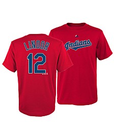 Majestic Big Boys Francisco Lindor Cleveland Indians Official Player T-Shirt