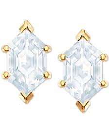 Swarovski Gold-Tone Crystal Stud Earrings