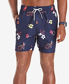 "Men's Brook Quick-Dry Tropical-Print 6-1/2"" Swim Trunks"