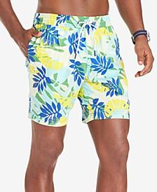 "Men's Leigh TH Flex Stretch Quick-Dry Palm-Print 6-1/2"" Swim Trunks"