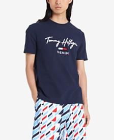 Tommy Hilfiger Denim Men's Gorman Tufted Logo Graphic T-Shirt