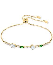 Swarovski Gold-Tone Crystal Slider Bracelet