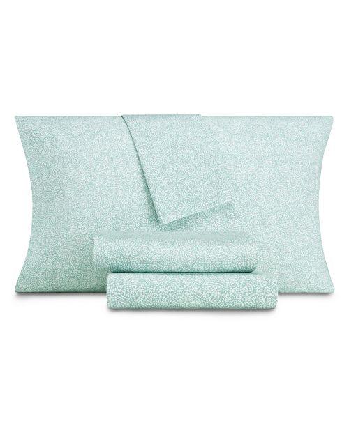 AQ Textiles CLOSEOUT! Modernist Floral 4-Pc Queen Sheet Set, 350 Thread Count Cotton Blend