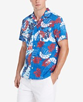 5670ebfb Tommy Hilfiger Men's Reid Custom-Fit Tropical-Print Camp Collar Shirt