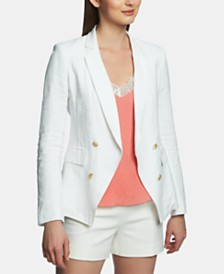 1.STATE Linen Double-Breasted Blazer