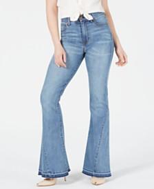 Kendall + Kylie Stunner Stunner Released-Hem Flared Jeans