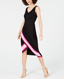 I.N.C. Tie-Dyed Tulip-Hem Midi Dress, Created for Macy's