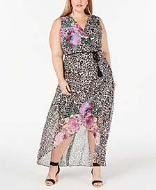 INC Plus Size Printed High-Low Maxi Dress, Created for Macy's
